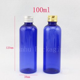 Wholesale 100ml empty cosmetic lotion container bottles with aluminum screw caps cc flower toilet water refillable bottle container