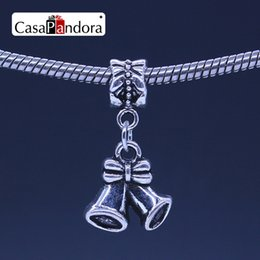CasaPandora Silver-colored Bow tie and Speaker Shape Pendant Fit Bracelet Cha0rm DIY Bead Jewelry Making Pingente Berloque Wholesale Price