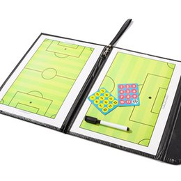 Wholesale Folding magnetic football soccer coaching board tactics board soccer tactics plate whiteboard marker