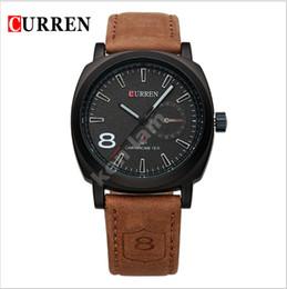 Curren luxury brand quartz watch Casual Fashion Leather watches reloj masculino men watch free shipping Sports Watches 8139