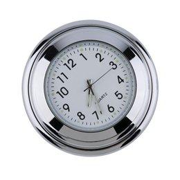 Descuento venta caliente de la motocicleta Venta caliente blanca del reloj del montaje del manillar de la motocicleta del cromo de Wholesale-1PC 7/8