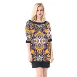The new spring summer 2019 women's European and American high-end brand ladies' fashion loose stitching color print dress dress