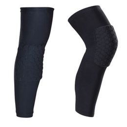 New a Pair Black Pro Honeycomb Compression Collision Knee Pads for Playing Basketball and Team Sports Free Shipping