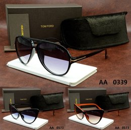Wholesale 2016 HOT sale Tom Italy Designer Crocodile brand men women frog mirror Round DITA Vintage aviator carrer ford sunglasses with origianal box