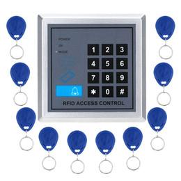 Promotion entrée de la porte de sécurité Vente en gros de haute qualité de sécurité RFID proximité de la porte d'entrée de verrouillage du système de contrôle d'accès + 10 porte-clés