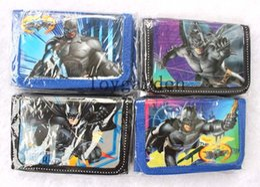 Wholesale 24pcs batman boy's Purses coin Wallets with 1 Zip Free shipping