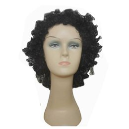 Black Short Lady wigs Synthetic Wigs for Black Women Explosion hair wigs Kinky Curly Free Shipping