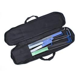 New KLOM Auto Quick Open lock Pick set professional car locksmith tools black small bag free shipping