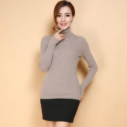 Autumn and winter women's cashmere sweater high fancy collar conventional models Slim fashion wild base of the school wind solid color sweat