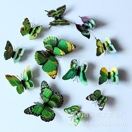 Magnet Butterfly Stickers simulation decorative butterfly fridge stickers decorative butterfly crafts simulation butterfly wholesale