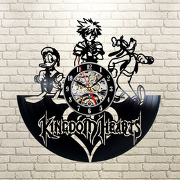 Kingdom Hearts Vinyl Record Clock Wall Art Home Decor Creative Digital Wall Clocks Modern Hanging Clock