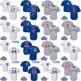 Wholesale Cool base World Series Champion Men Chicago Cubs Kris Bryant Anthony Rizzo Javier Baez Ross Heyward Russell Zobrist baseball jerseys