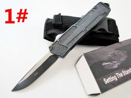 Wholesale to USA MTautoTF scarab 10 models dual action Hunting automatic Pocket Knife Survival Knife Xmas gift