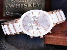 Compra Online Cerámica blanca reloj de pulsera-2017 El cronógrafo de lujo de la marca de fábrica se divierte los relojes de los hombres del timeworker WHITE DIAL dos tonos de cerámica de la manera de la BANDA del oro mira los hombres IW005 wristwatch