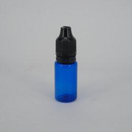 Bouteilles bleu cobalt gros en Ligne-Pet hard squeeze 10ml bouteille de cobalt couleur bleue électrostatique gouttelette bouteille bouche large bouchon d'épreuve des enfants E cigarette huile bouteille d'animaux de compagnie en gros