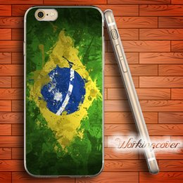 Coque Brazil Flag Design Soft Clear TPU Case for iPhone 7 6 6S Plus 5S SE 5 5C 4S 4 Case Silicone Cover.