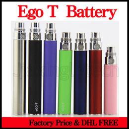 Wholesale E Cigarro Ego T Batería mah mah mah Para Ce4 Atomizador Evod Mt3 Vaporizador De Rosca E Cig Ego baratos Twist Batería DHL
