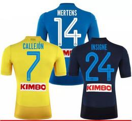 2017 2018 Serie Naples New Napoli home soccer jerseys Napoli blue football Jerseys Shirt for men 17 18 HAMSIK L.INSIGNE PLAYER Shirt