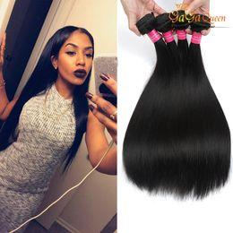 Factory Wholesale Virgin Human Hair Weave Malaysian Straight Weft Brazilian Hair Bundles Peruvian Indian Hair 4Bundles Free Shipping