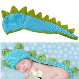 Descuento cute baby accesorios de fotografía Venta al por mayor-DSGS NUEVO ESTILO Cute Baby Infant Dinosaur Costume Foto Fotografía Prop 0-6 meses nacido