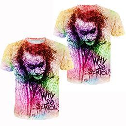Wholesale DC Comics Men s Batman Basic Multi Sports T Shirt The Joker Black TShirt With Saying quot Why So Serious quot Dark Knight Trilogy Men s t shirt