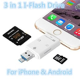 3 en 1 iFlash Drive USB 3.0 Lecteur de carte Micro SD TF pour iPhone 6 7 Samsung S6 S7 Edge Smart Phone à partir de usb des cartes à puce fabricateur