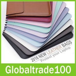 Wholesale For Apple Macbook Air Pro Retina Touch Bar inch New Leather Sleeve Protector Envelope Bag Cover Case