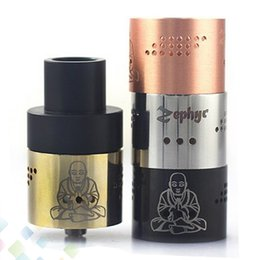Newest Zephyr Buddha 26650 RDA Atomizer with 36 Air Holes 510 thread Vaporizer RDA Fit 26650 Mods high quality 5 Colors DHL Free