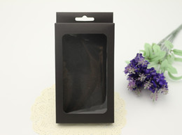 Hot Selling Black Blank Paper Box For Phone Case For iPhone 7 7plus Paper Packaging With PVC Window With Hanger Hole