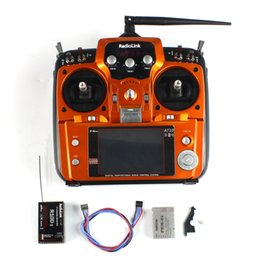Wholesale F07627 RadioLink AT10II Ghz CH RC Transmitter with R10DII Receiver PRM Voltage Return Module for RC Aircraft Quadcopter