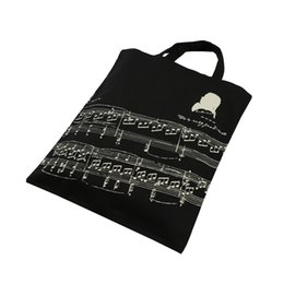 100% New Style Pure Cotton Handbag Tote Bag Shopping bags With Cute Music Sheet