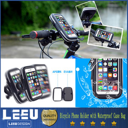 Wholesale Bicycle Phone Holder Mobile Phone Stand for iPhone Samsung Inch GPS Bike Holder with Waterproof Case Bag