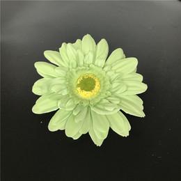 Green Artificial Silk Daisy Flower Heads 11cm Real Touch Daisy Silk Flowers Chrysanthemum Sunflowers Flowers Wedding Patry Decoration