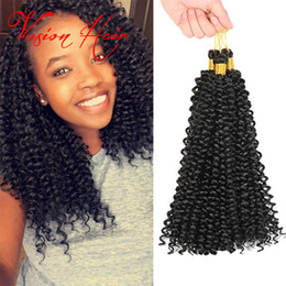Vague d'eau armure bouclée à vendre-Hot Selling Water Wave Crochet Braiding Hair Extension 14''30roots / pack Synthétique Kinky Curly Hair Weave Crochet Synthetic Hair Extensions