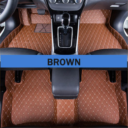 High quality stitching car floor mat leather material car carpet mat waterproof car mat for automotive interior parts