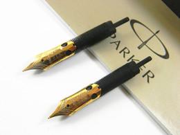 Descuento cartuchos de tinta de la fuente al por mayor Venta al por mayor-2Pcs pluma de Parker Togune pluma de pluma de pluma de oro recarga