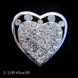 Silver Color Clear Rhinestone Crystal Small Heart Pin Brooch