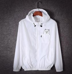 Wholesale designer ripndip jackets for men women windbreakers hip hop outdoor sport bomber jacket streetwear thin windbreaker