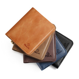 Wholesale Slim Man Wallet Top Grade Soft Cowhide First Ply Hot Sales Simple Design Factory Price Best Quality New