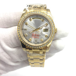 High quality DAY-DATE Automatic Mechanical Gold Stainless Steel Boy Girl Watch,Luxury Diamonds Classic Style Unisex Men Women Lady watch