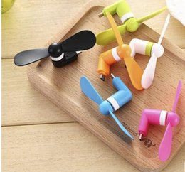 10PCS LOT Newest Cheapest USB Mini Micro USB Fan Portable 5Pin Flexible Fan For Android Phone With Package