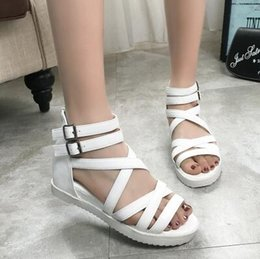 Ms summer flat flat han edition girl child high school students in junior high school students is cool shoes