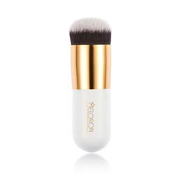 HUMLI Best Large Cosmetics Foundation Brush Professional White Makeup Brush with Box Nylon Makeup Brushes Beauty Essential Makeup Tools