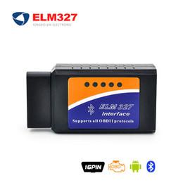 Wholesale ELM V1 v2 BT adapter Works On Android Torque Elm327 Bluetooth V1 Interface OBD2 OBD II Auto Car Diagnostic Scanner