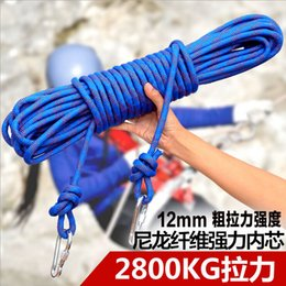 Wholesale 100m piece mm outdoor equipment climbing rope lifeline escape climbing static climbing downhill rope m safety rope camping