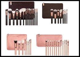 Wholesale Best price COMPLETE MAKEUP BRUSH Professional Set Tools Kit Pink and Brown ROSE GOLDEN Powder Blending brushes
