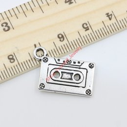 Wholesale Vintage Antique Silver Plated Music Tape Charms Pendants for Jewelry Making DIY Handmade x28mm D401
