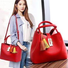 Wholesale 2016 hand bag leather bag leather red cabbage basket simple bulk bag bag bride