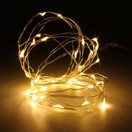 El mejor precio llevó las luces de navidad en venta-Venta al por mayor-Mejor precio Batería de 4M 40 LED de alambre de alambre de hadas de cuerda de luces de Navidad de la boda partido de la decoración del jardín lámpara DC4.5V
