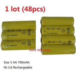 Wholesale 48pcs Rechargeable Ni Cd Battery Size AA V mAh Ni Cd Volt Batteries